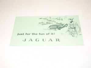 JAGUAR : JUST FOR THE FUN ON IT (1956 mini brochure printed in USA)